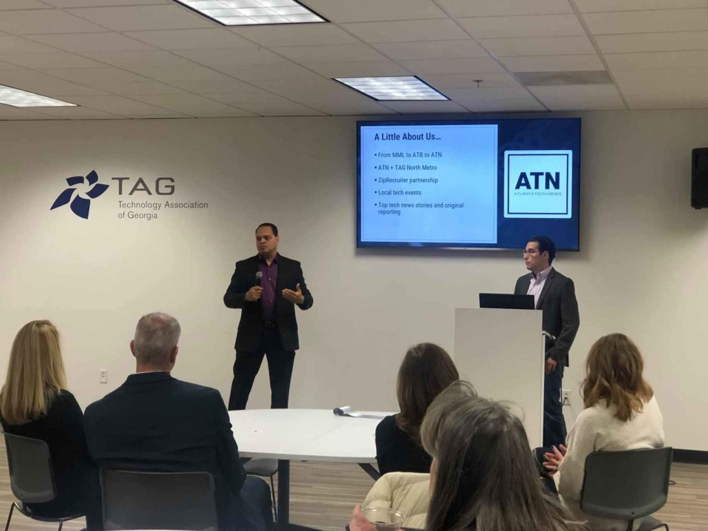 Rick Hancock and Michael Grillo of Atlanta Tech News